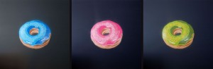 DONUTS in BLUE, PINK and GREEN & ANARCHOMAN