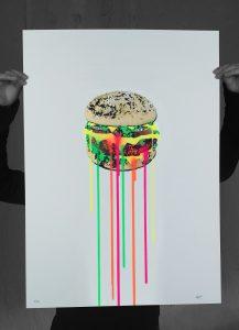 New 70 x 50 Neon Food edition