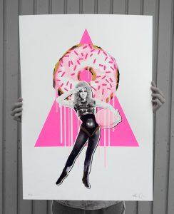 Donut mit Frau